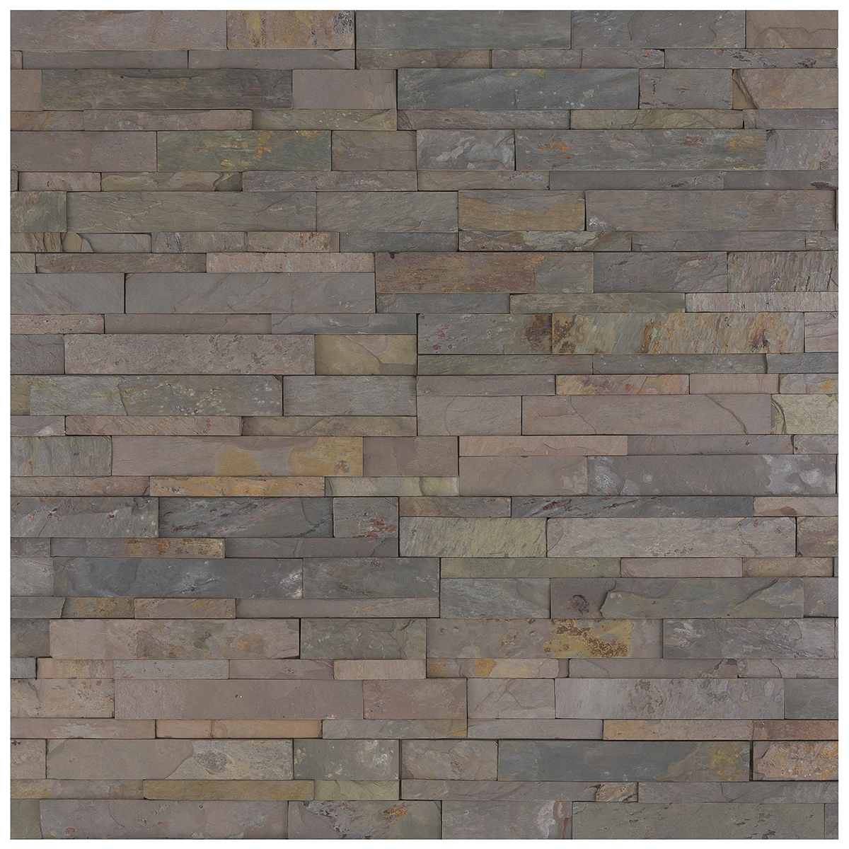 earthy natural red tone slate cladding