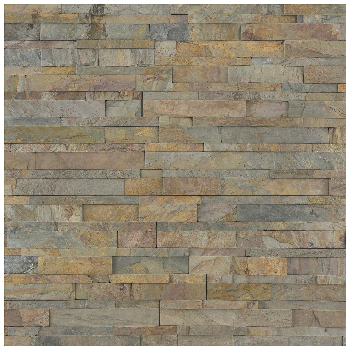 earthy tone stack panel slate cladding with grey and copper tones
