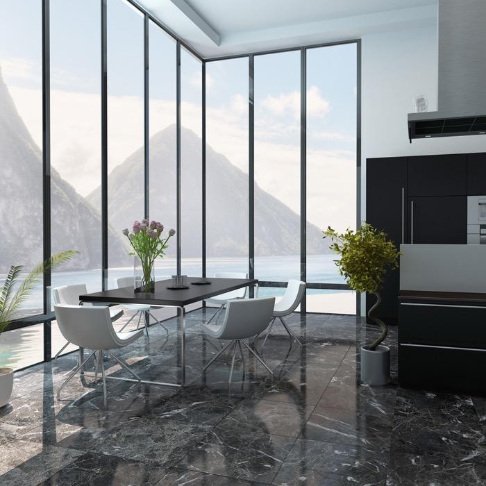 Artmar Completed Projects Dark Marble Floor