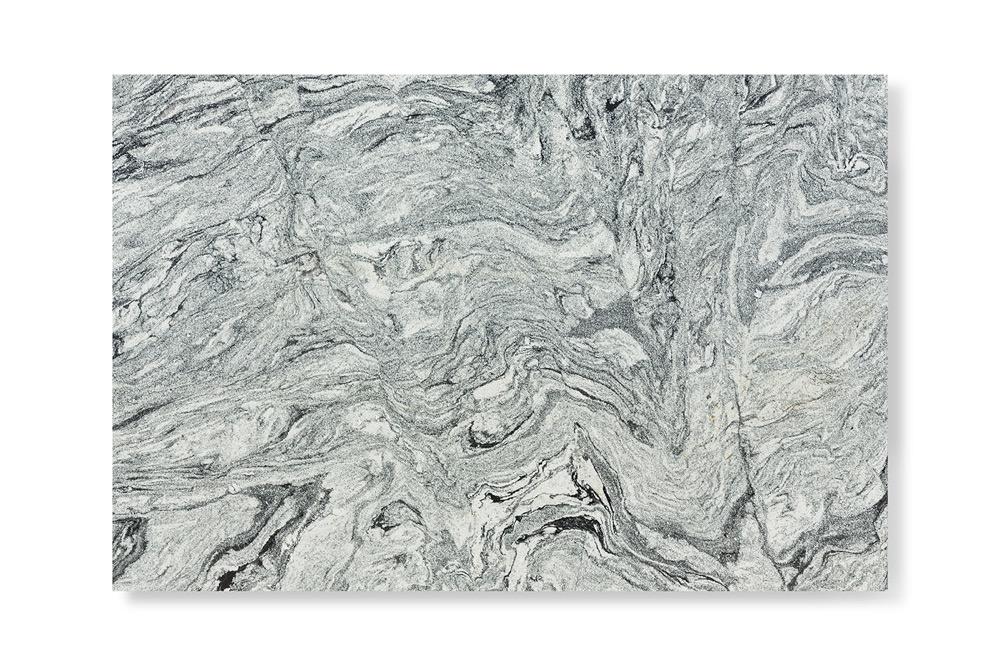 Black and white veins granite slab